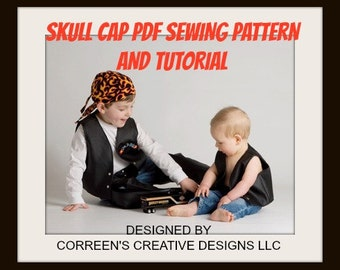 Skull Cap Do-Rag Sewing Pattern, Sewing tutorial, doorag pattern, welding cap pattern, pdf pattern