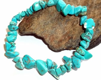 Turquoise Chip Stretch Bracelet earthegy