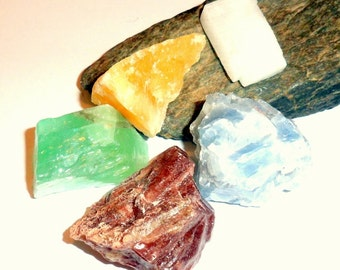 Raw Calcite Set of Five Stones