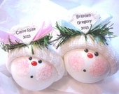 Boy Girl Ornament Blue Pink Color Choice Christmas Townsend Custom Gifts