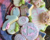 Princess decorated cookie set- 45 assorted pieces-