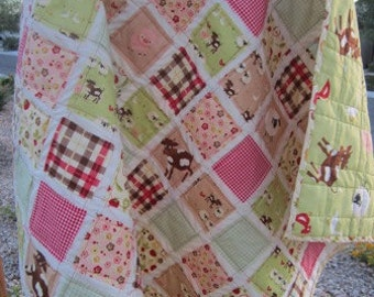 Farm Friends.........A Fray Edge Quilt......Ready to Ship