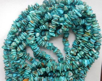 Natural turquoise  chips   (5-11x1.5-6mm), natural turquoise chips, turquoise nuggets