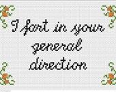 I fart in your general direction. Monty Python cross stitch pattern .pdf