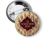 """Marauders Map Harry Potter Inspired 1"""" Pinback Button"""