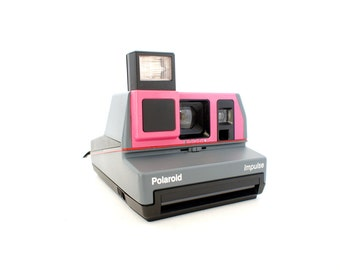 Custom Pink Polaroid Camera Impulse 600 - Film Tested Working