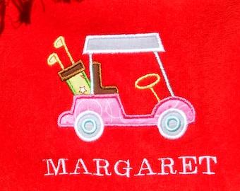 Custom Embroidered Golf Towel, Sport Towel, Gift,