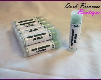 Mint flavoured lip balm