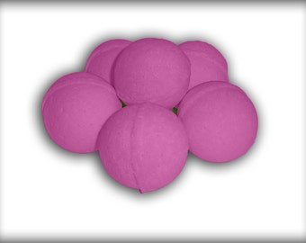 Cherry scented bath bombs.