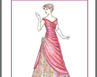 "PDF Download ""Evening Gala"" a LivelyStitch Design sewing pattern for the Silkstone Barbie doll"