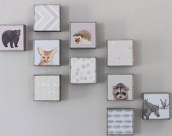 woodland nursery art- choose 10 designs- forest animals- nursery woodland art- animal print- nursery forest - geoemetric art- redtilestudio