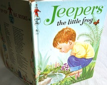 Jeepers The Little Frog Tip Top Elf Book Great Condition 1965 Copyright Color Illustrations Marjorie Cooper