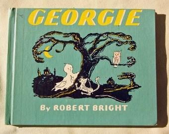 1944 Hardcover Georgie by Robert Bright Hansche School Library Racine Wisconsin