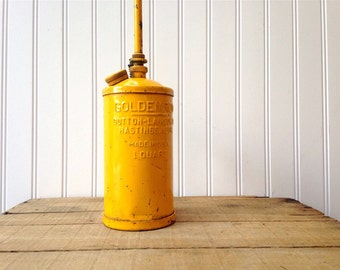 Vintage Goldenrod Oil Can Yellow