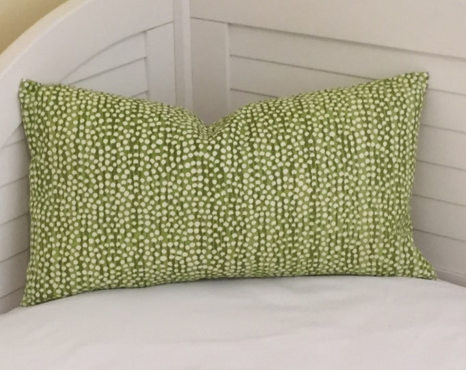 Quadrille China Seas Mojave Chartreuse on Tint Designer Lumbar Pillow Cover 14x24, FREE SHIPPING