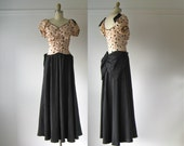 vintage 1940s dress / 40s gown / Magic Moonlight
