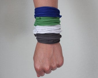 Cuff Bracelet or Necklace in Bold Colors