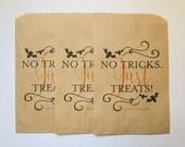 Halloween Treat Bag - Candy Buffet Bags - Printed Kraft Bag - Favor Bag - Trick or Treat Bag - Halloween Favors - Printed Treat Bag