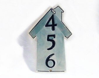 Ceramic Home Address - House Numbers - New Home Address - Home Address Sign - Number Plaque - House Pottery Numbers - Address Plaque