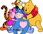 Cross Stitch PATTERN graph for Pooh and Friends