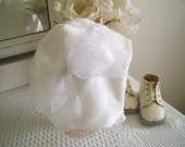 Snow Princess Baby Hat size 12 to 18 mo. White Furry Bonnet, Toddler Fleece Hat, Minky Baby Girl Hat