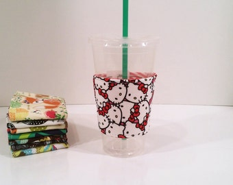 Eco-Friendly Coffee/Tea Sleeve - Hello Kitty