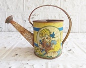 Vintage Ohio Art Tin Lithographed Toy Watering Can