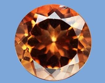 TOPAZ (20801) - Spaarkly!  10mm Burnt Orange Topaz  - Brazil - Faceted