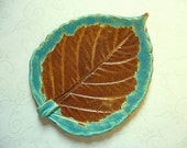 Bright Mesa Pottery Leaf Spoon Rest or Dish