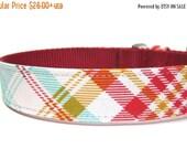 BIG Summer SALE Dog Collar- Rusty Red Plaid