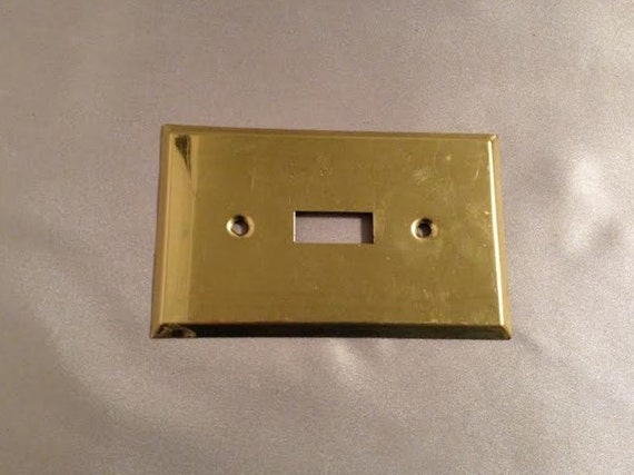 Light Switch Cover Switch Plates Vintage Metal Gold Metal