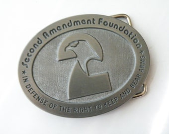 20% off Belt Buckle Second Amendment Foundation - Defense of Right to keep and bear arms. BOX