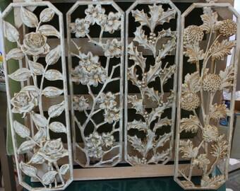 Set of Rectangular Mid-century Wall Plaques
