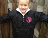 Youth sized monogrammed LINED pullovers by Gigi Babies, jacket