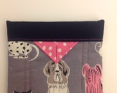 """Dogs Quilted Fabric Mini Snap Bag Purse Pouch 5"""" x 4"""""""