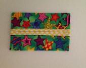 Colorful Stars Fabric Tissue Holder