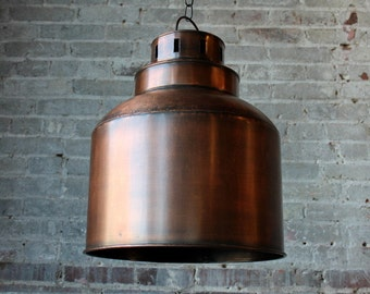 The Empire Light Fixture Reclaimed Metal Antique Copper Finish Pendant Light Commercial Fixture Boho Industrial