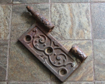 Antique Vintage Door Hinge Piece Rusty Altered Art Assemblage Restoration Craft Supply