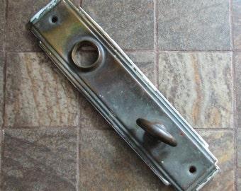 Vintage Door Plate Doorplate Escutcheon Art Deco Altered Art Assemblage Restoration Craft Supply