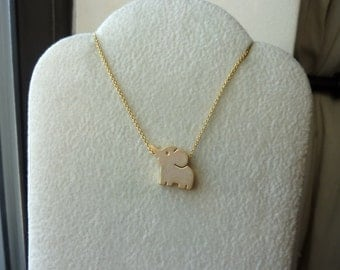 Petite Elephant Dainty Chain Necklace