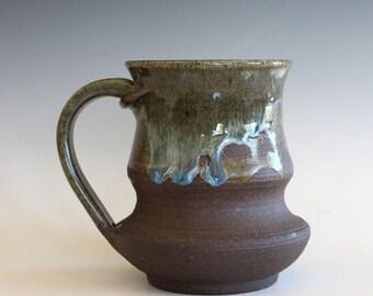 Pottery Mug, 19 oz, unique coffee mug, handmade cup, handthrown mug, stoneware mug, wheel thrown pottery mug, ceramics and pottery