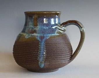 LARGE Coffee Mug, 26 oz, handmade ceramic cup, handthrown mug, ceramic stoneware pottery mug unique coffee mug ceramics and pottery