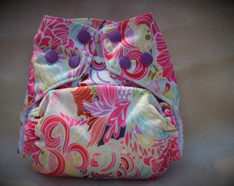 Girls one size pocket diaper.