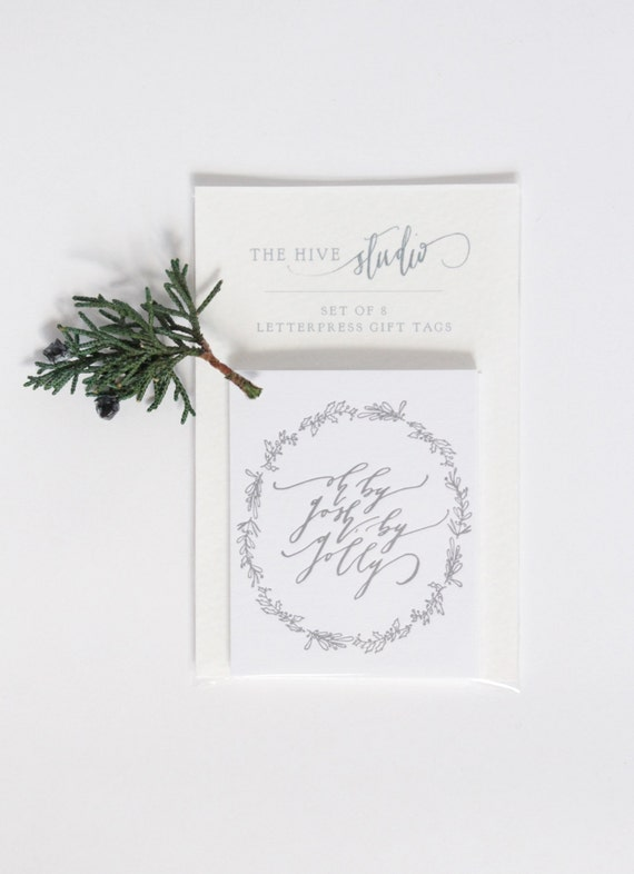 Sale Letterpress Calligraphy Gift Tags Oh By Gosh By