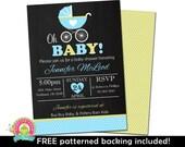 Baby Shower Invitations - Baby Boy Shower Invitation - Blue and Mint Baby Shower - Boy Baby Shower Invite - Printable Baby Shower Invites