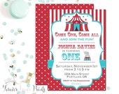 Carnival Party Invitation, Circus Invitation, Carnival Party Invite, Carnival Birthday Invitation, Carnival Party, Printable Invitation