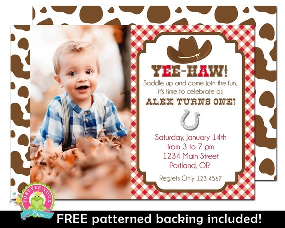 Cowboy Invitation - Cowboy Birthday Invitation - Cowboy Invite - Cowboy Party Invite - Vintage Cowboy - Cowboy Party - Cowboy Birthday