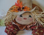 Primitive Scarecrow shelf sitting cloth art doll
