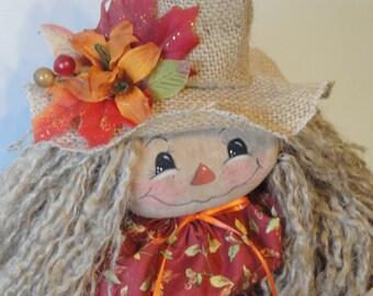 Scarecrow Primitive cloth fall art doll