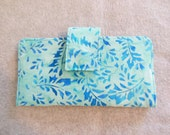 Fabric Wallet - Blue Leaf Batik